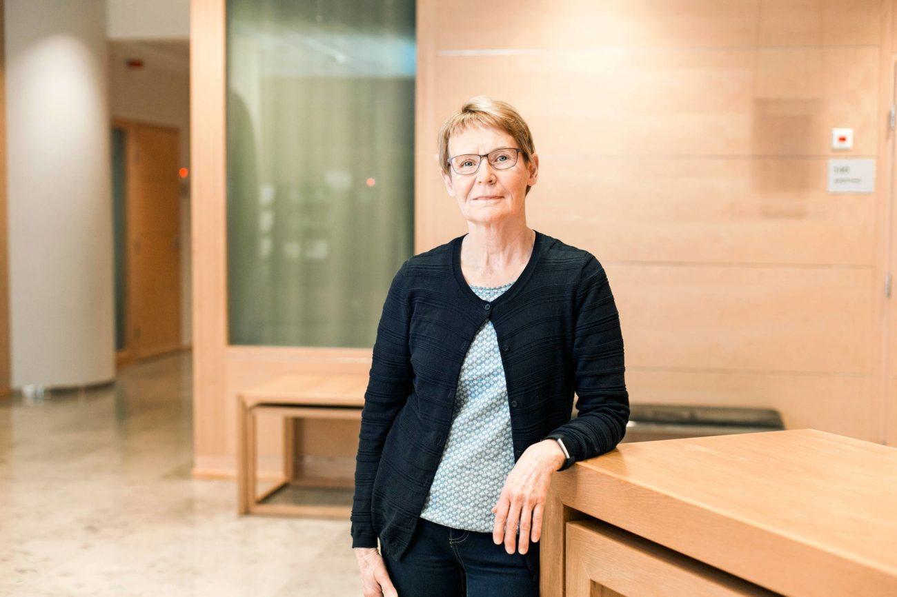 Tilastosuunnittelija Heidi Nyman teki Eläketurvakeskuksessa liki 40-vuotisen työuran. Alkuvuodesta hän siirtyi eläkkeelle.