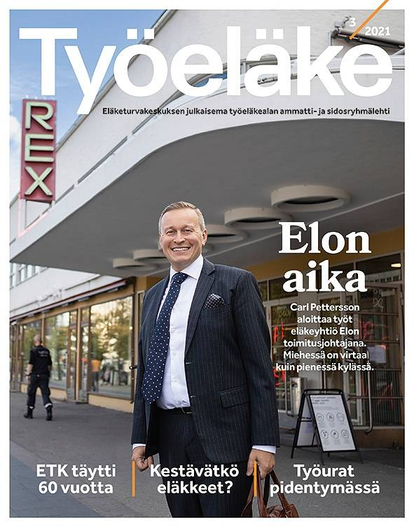 Työeläke-lehden näköislehden kansikuva, numero 3:2021.